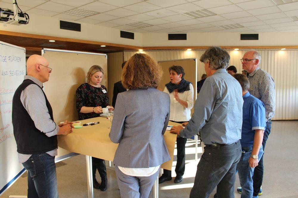 Teilnehmer beim World Café