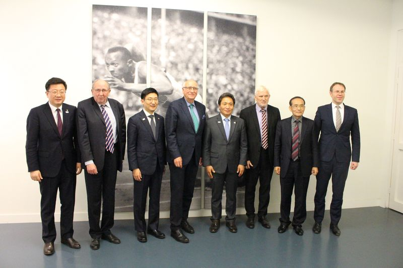 Delegation aus Südkorea